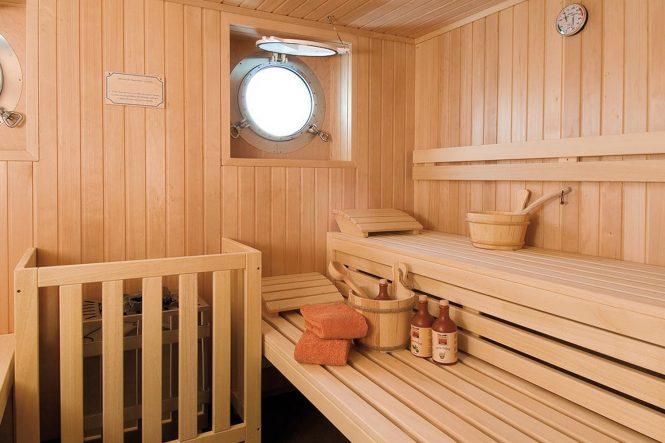 Sauna del yate de alquiler
